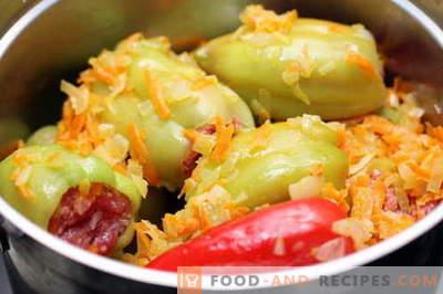 Gefüllte Paprikaschoten - die besten Rezepte. Wie man gefüllte Paprikaschoten richtig kocht.