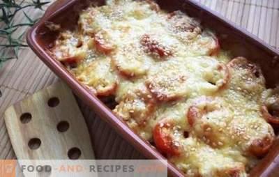 Feines Gericht - Zucchini mit Käse im Ofen. Zucchini mit Käse im Ofen, mit Tomaten, Pilzen oder Pfeffer!