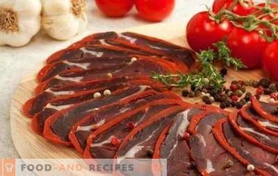 Basturma from pork: hiking food of ancient nomads. Cooking pork basturma at home: the subtleties