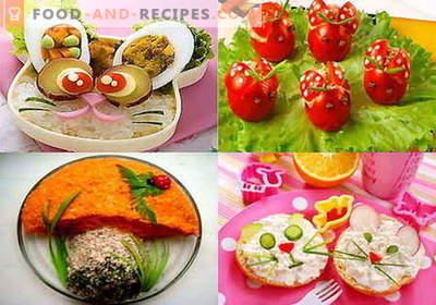 Kindersalate - die besten Rezepte. Wie man richtig und lecker einen Kindersalat zubereitet.