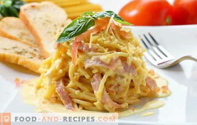 Spaghetti Carbonara - sie riechen nach Italien! Spaghetti Carbonara Rezepte mit Speck, Champignons, Schinken, Hühnchen, Garnelen