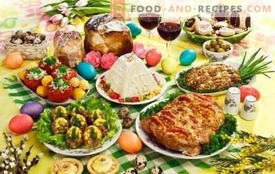 Ostergeschirr - wir legen den Tisch für den wichtigsten Feiertag des Jahres fest. Eine Auswahl der besten Rezepte für Ostern: Salate, scharfe, Desserts