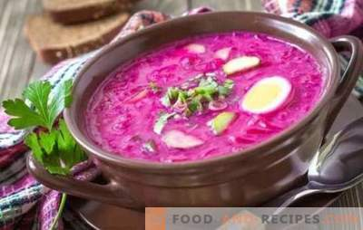 Rote Beete: ein Schritt-für-Schritt-Rezept für die hellste Suppe. Kochen Sie klassische warme und kalte Rote Beete (Schritt für Schritt Rezepte)