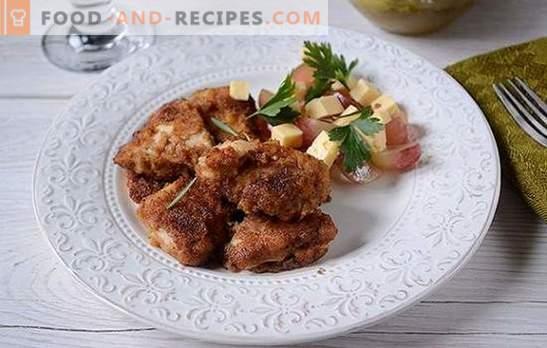 Paniertes Hähnchen mariniert in Sojasauce - 20 Minuten kochen lassen! Schritt für Schritt Foto-Rezept von paniertem Hähnchenfilet mit orientalischem Geschmack