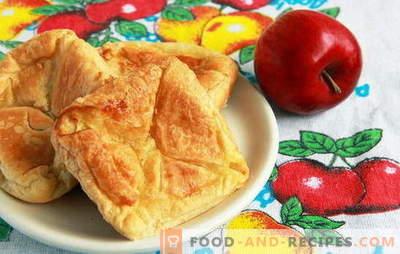 Blätterteig mit Blätterteigäpfeln - einfacher als Sie denken. Rezepte Blätterteig mit Äpfeln aus Blätterteig: Zungen und Umschläge