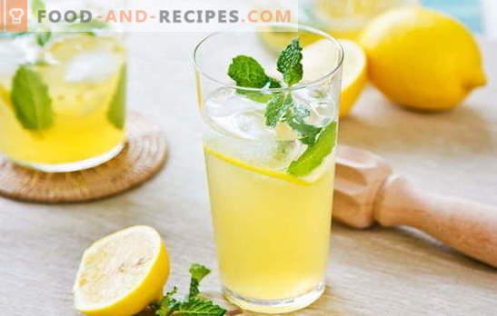 Zitronengetränk - Energie und Vitamine in einem Glas. Rezepte für Zitronengetränke: kühle Limonade oder warmer Sud