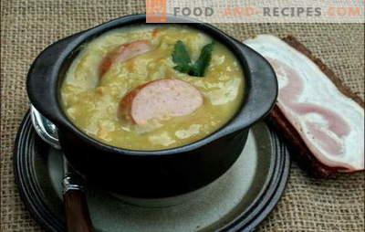 Holländische Suppe - viel Geschmack! Rezepte verschiedener niederländischer Suppen: Erbsen, Gemüse und Fleisch, mit Hackbällchen und Speck