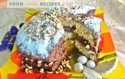 Leckere Torte für jede Feier, die lang erwarteten - Snickers! Foto-Rezept des schrittweisen Kochens des Kuchens
