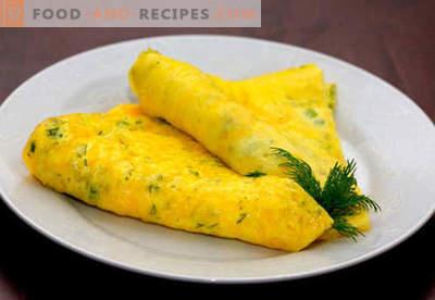 Omelette au fromage - recettes éprouvées. Comment faire cuire et faire une omelette avec du fromage.