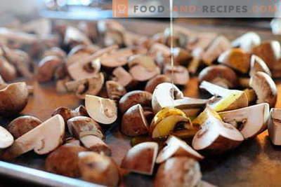 Im Ofen gebackene Pilze - die besten Rezepte. Wie man richtig und lecker Pilze im Ofen kocht.