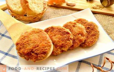 Schnell braten, lecker, geschickt kotelettieren wir in Panieren. Klassische Vorspeisen: Die besten Rezepte für panierte Schnitzel