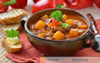 Ungarische Suppe ist ungewöhnlich, aber lecker! Verschiedene Rezepte ungarischer Suppen: mit Rindfleisch, Fisch, Bohnen, Spinat, Kirschen