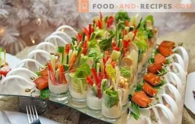 Hochzeitssnacks - wie werden Verwandte und Freunde behandelt? Originelle Rezepte für Hochzeitssnacks: Canapés, Brötchen und gefüllte Eier