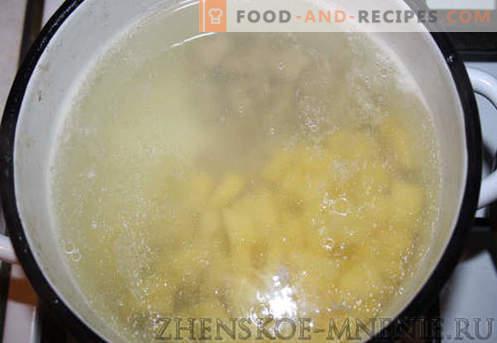 Suppe mit Knödel - ein Rezept mit Fotos und Schritt-für-Schritt-Beschreibung