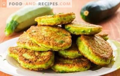 Gemüseknödel - lecker, schnell, preiswert. Pfannkuchen in der Pfanne und im Ofen zerdrücken