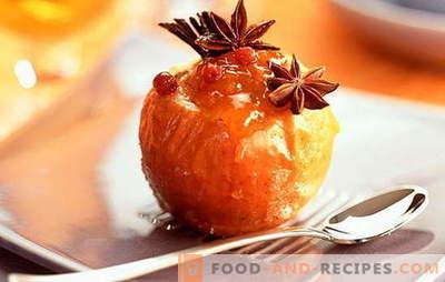 Gebackene Äpfel im Ofen - eine köstliche Nostalgie. Rezepte von gebackenen Äpfeln im Ofen: mit Honig, Hüttenkäse, Nüssen, Reis, Ingwer