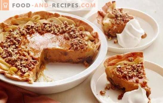 Pie mit Walnüssen - die Kraft für das Gehirn, Freude für den Magen! Rezepte für hausgemachte Walnusskuchen für ein süßes Leben