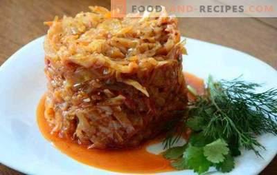 Kohl mit Hackfleisch in einer Pfanne ist ein saftiges Gericht. Wie man Kohl mit Hackfleisch in einer Pfanne zubereitet