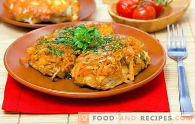 Fisch mariniert - ein klassisches Rezept, einfach und günstig. Seelachs, Seehecht und Kabeljau - klassischer Fisch unter der Marinade