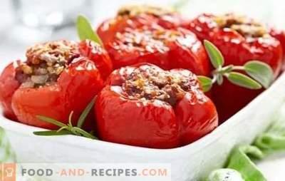 Schritt für Schritt Rezept für gefüllte Paprikaschoten mit Hackfleisch. Wie man gefüllte Paprikaschoten mit Hackfleisch auf dem Herd und im Ofen kocht