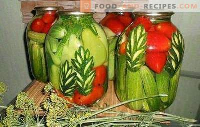 Assorted cucumbers: how to do it? Choose the marinade for assorted cucumbers with tomatoes, cauliflower, zucchini, sweet peppers