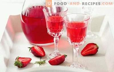 Erdbeer-Likör zu Hause - abgesehen von der Konkurrenz! Alle Feinheiten und Rezepte für die Herstellung von Erdbeerlikör zu Hause