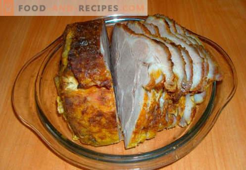 Gebackener Schinken im Ofen - die besten Rezepte. Wie man richtig und lecker gekochten Schinken im Ofen zu Hause kocht.