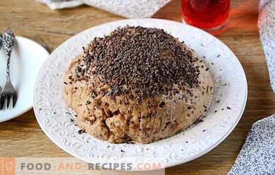 Schnell lecker nach Tee - ein Lebkuchenkuchen ohne zu backen. Autor Schritt für Schritt Rezept für einen Kuchen ohne Lebkuchen backen: detaillierte Fotos