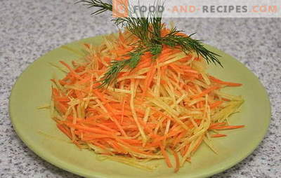 Erfrischender leichter Rettich- und Karottensalat. Die besten Optionen für eine Diät mit Radieschen- und Karottensalat mit verschiedenen Dressings