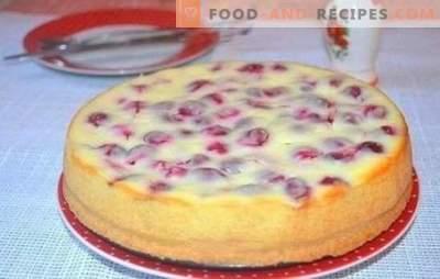 Wie man einen köstlichen Kirschkuchen auf Kefir macht - Geheimnisse. Eine Auswahl an Rezepten für verschiedene Kuchen mit Kirsche auf Joghurt