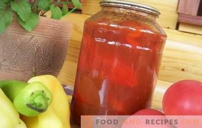 Tomaten- und Pfeffersalat für den Winter: Jede Hausfrau hat ihr eigenes Rezept! Viele Sorten Tomaten- und Pfeffersalat für den Winter
