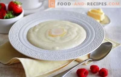 Grießbrei auf Milch - Guten Morgen! Wie man Grieß in Milch kocht, so dass der Brei lecker und ohne Klumpen ausfällt