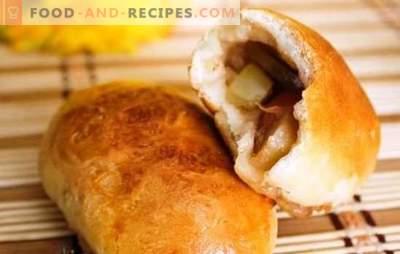 Hefepasteten mit Äpfeln im Ofen sind hübsch! Rezepte Teig und Toppings für Hefegebäck mit Äpfeln im Ofen