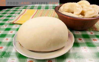 Teig für Knödel mit Kartoffeln ist anders. Knödelrezepte mit Kartoffeln, aus Teig auf Wasser, Milch, Sauerrahm, Kefir und Brühe