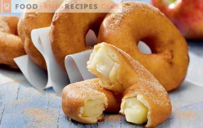 Donuts zu Hause - geschwollene Ringe! Rezepte für hausgemachte Krapfen mit Hefe, Kefir, Hüttenkäse, Kondensmilch und gefüllte