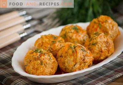 Hähnchenfleischbällchen - bewährte Rezepte. Wie richtig und lecker gegarte Hähnchenfleischbällchen.