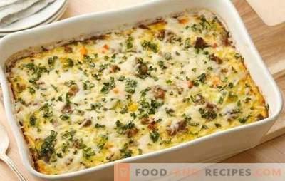 Gemüseauflauf mit Hackfleisch - ein einfaches und zufriedenstellendes Gericht. Eine Auswahl der besten hausgemachten Rezepte für Gemüseauflauf mit Hackfleisch