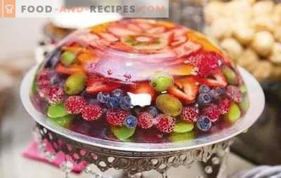 Fruchtgelees sind ein leichtes Dessert für diejenigen, die ihrer Figur folgen. Eine Auswahl an einfachen und originellen Fruchtgelee-Rezepten