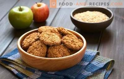 Lean oatmeal cookies - a useful and tasty dessert. How to make lean oatmeal cookies with bananas, honey, dried fruits, nuts