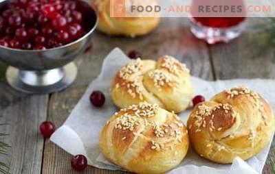 Sesambrötchen - der beste Start in den Tag. Rezepte für die Herstellung von Sesambrötchen: süß, mager, Snackriegel, Vanillepudding