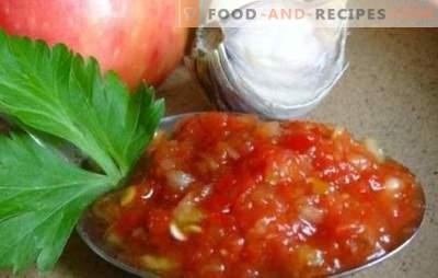 Ajika von Zucchini: Originalversionen eines bekannten Snacks. Wir haben für Sie die berühmtesten Rezepte adjika von Zucchini