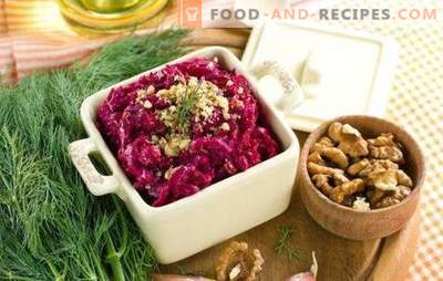 Cheap - does not mean primitive: beetroot salads with cheese. TOP simple salads from beets with cheese and not only