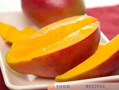 Mango - Beschreibung, nützliche Eigenschaften, Verwendung beim Kochen. Rezepte mit Mango.