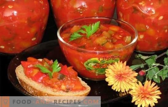 Kaviar aus bulgarischem Pfeffer - ein reiches Billet! Rezepte für verschiedenen Kaviar aus Pfeffer: mit Tomaten, Auberginen, Rüben, Karotten