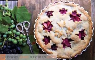 Torte mit Trauben - jeder freut sich für ihn! Rezepte Sand, Keks, Blätterteig und Hefekuchen mit Trauben