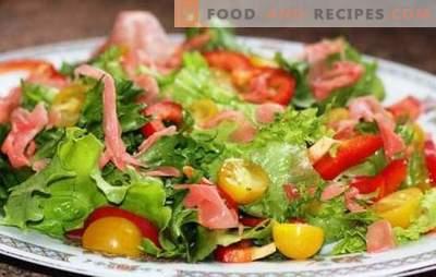Die Wurzel des köstlichen Geschmacks: Die besten Rezepte für Salate mit Ingwer. Regeln für die Zubereitung von Salaten mit eingelegtem Ingwer