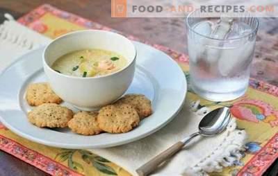 Fischsuppe mit Sahne - eine Alternative zum Ohr. Die besten Rezepte für Fischsuppe mit Lachscreme, Makrele, Seelachs, Forelle und rosa Lachs