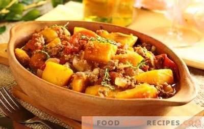Schweinebraten in einem langsamen Kocher ist ein einfaches, sättigendes und leckeres Gericht. Rezepte braten mit Gemüse, Champignons, Kartoffeln und Schweinefleisch in einem langsamen Kocher