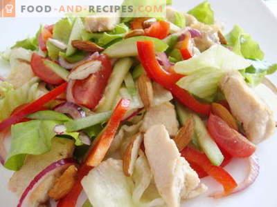 Hähnchen-Gurken-Salat - die besten Rezepte. Wie man richtig und lecker einen Salat mit Hühnchen und Gurken zubereitet.