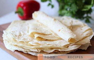 Armenian pita bread - recipes of the best dishes. What can be cooked from Armenian lavash? Recipes for holidays and everyday life: just delicious